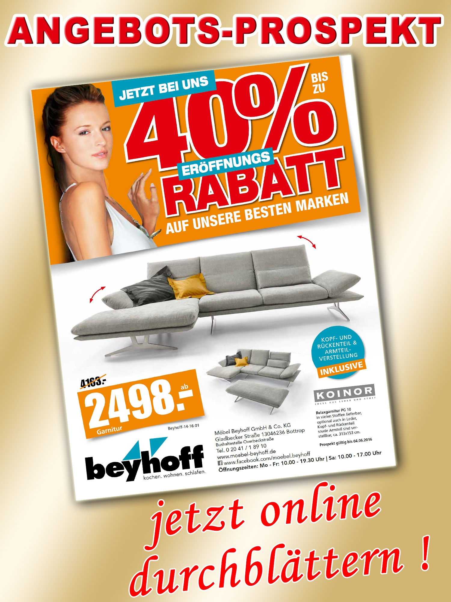 m bel beyhoff angebots prospekt unser bottrop app. Black Bedroom Furniture Sets. Home Design Ideas