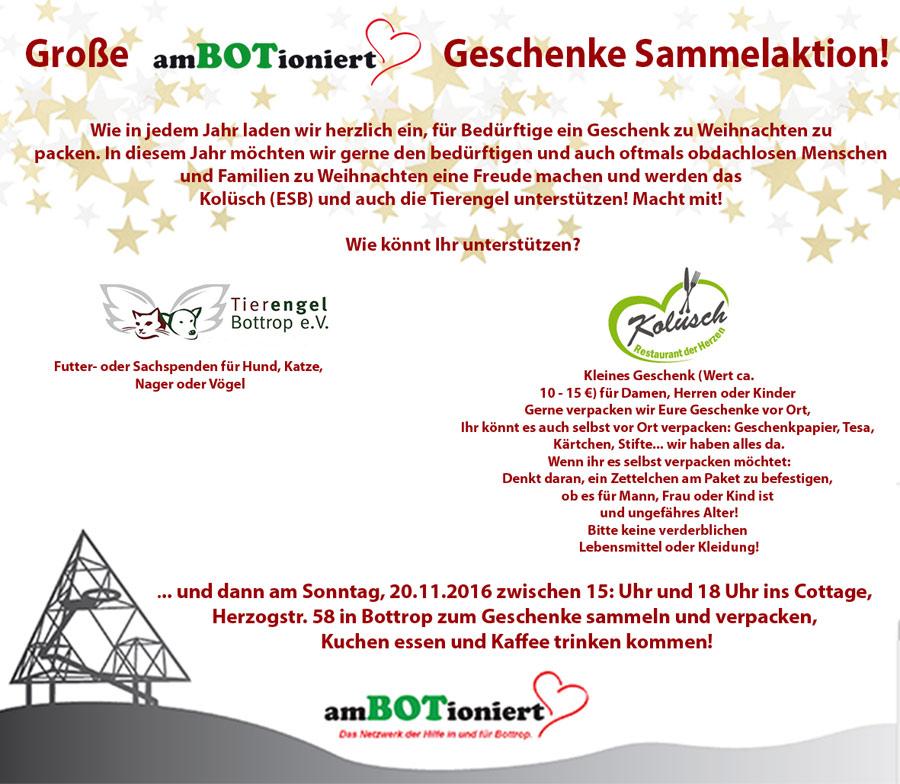 Mitmachen und helfen: Große amBOTioniert Geschenke Sammelaktion ...