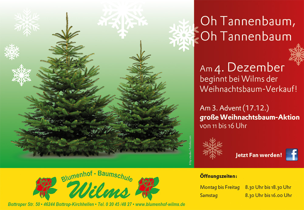 Weihnachtsbaum Ab Wann.Weihnachtsbaum Verkauf Ab Dem 4 Dezember Unser Bottrop App